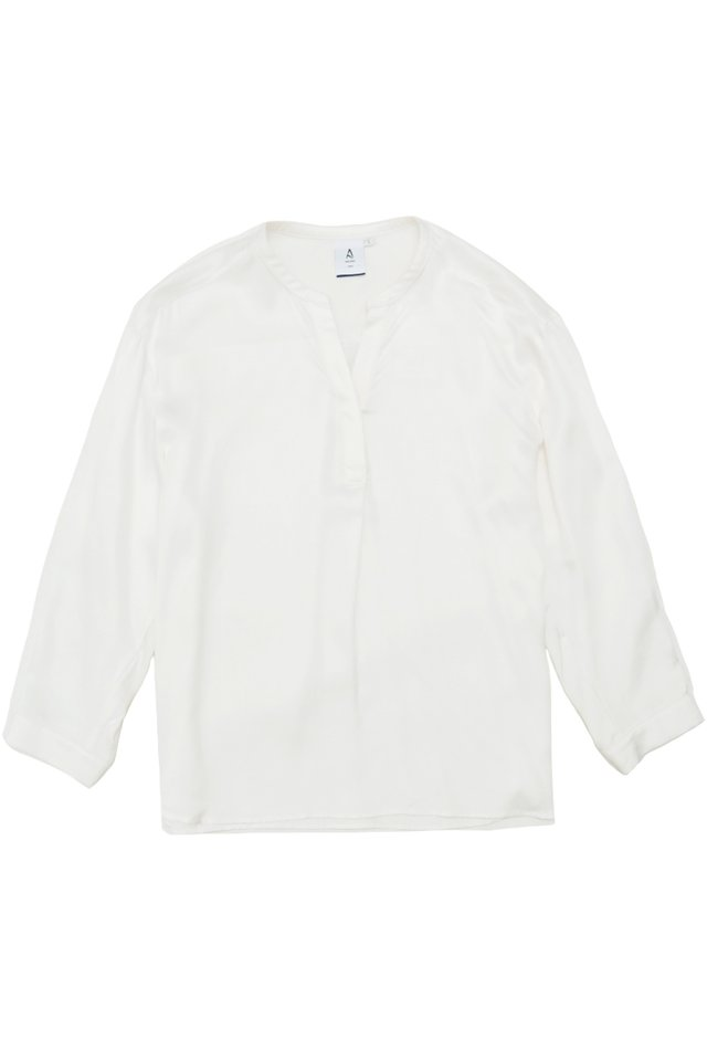 MATTY SKIPPER COLLAR SHIRT IN WHITE