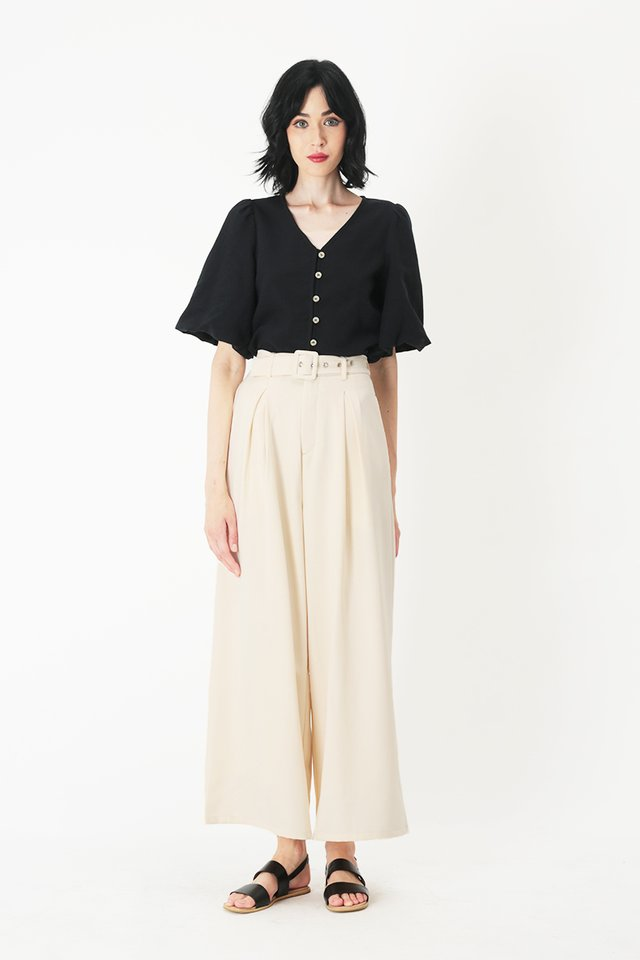 SHERMAINE BUTTON BLOUSE IN BLACK