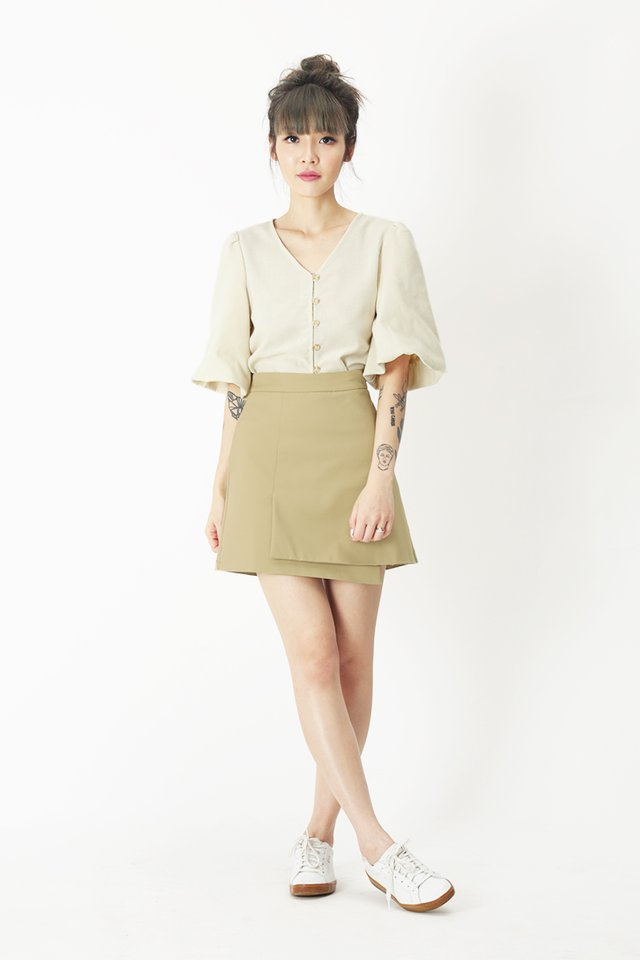 SHERMAINE BUTTON BLOUSE IN CREAM