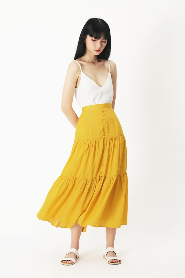 FARRAH MIDI SKIRT IN HONEY