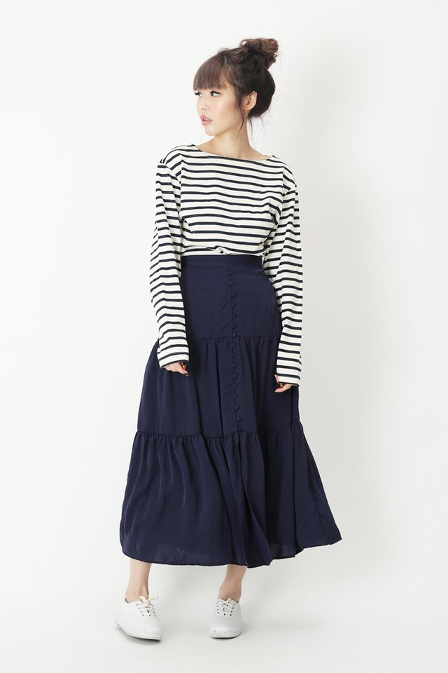 FARRAH MIDI SKIRT IN NAVY