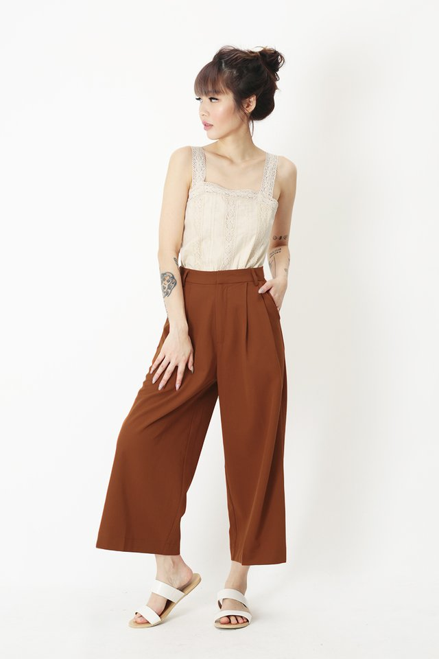 KEEP WALKING CULOTTES IN CARAMEL
