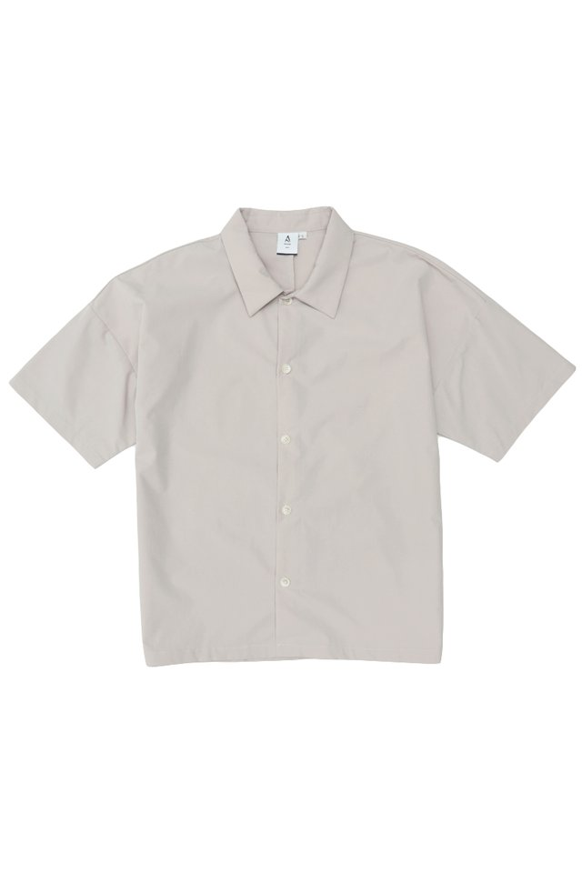 DAMON DROP SHOULDER SHIRT IN POTTER'S GREY