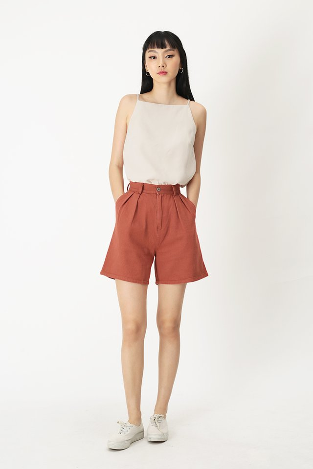 EMMETT DENIM SHORTS IN DESERT ROSE