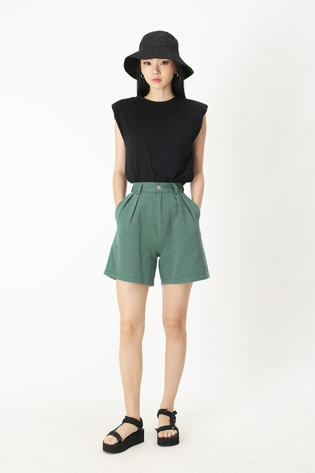 EMMETT DENIM SHORTS IN PINE
