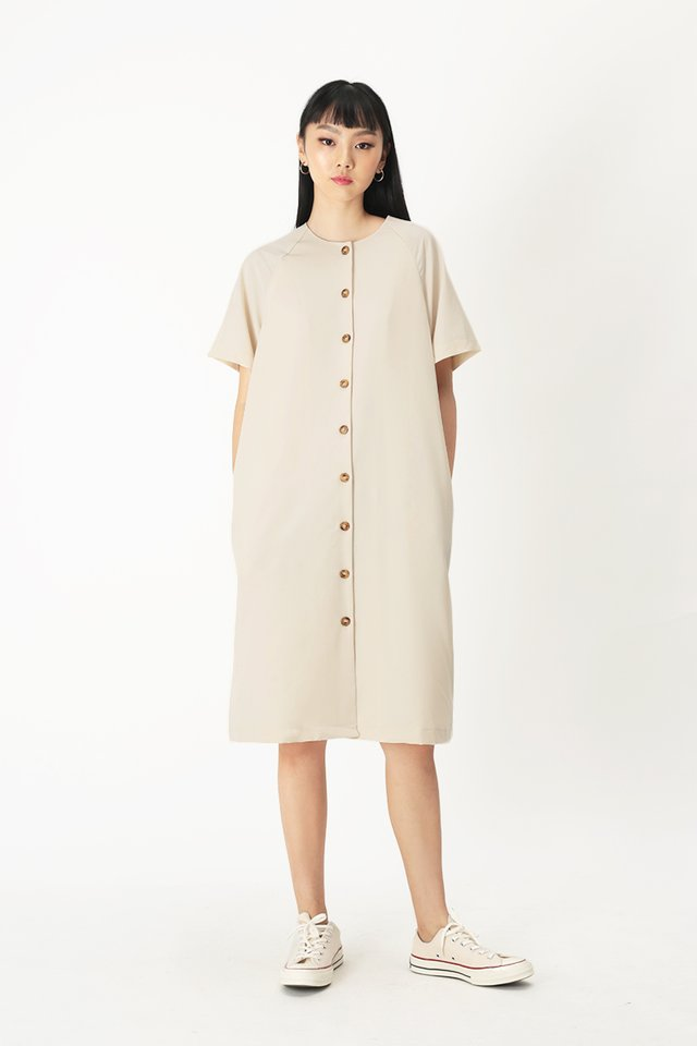 NAVAEH MIDI DRESS IN CREAM