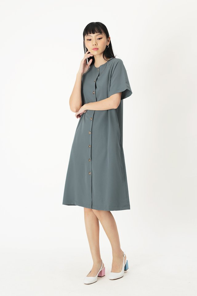 NAVAEH MIDI DRESS IN DUSK BLUE