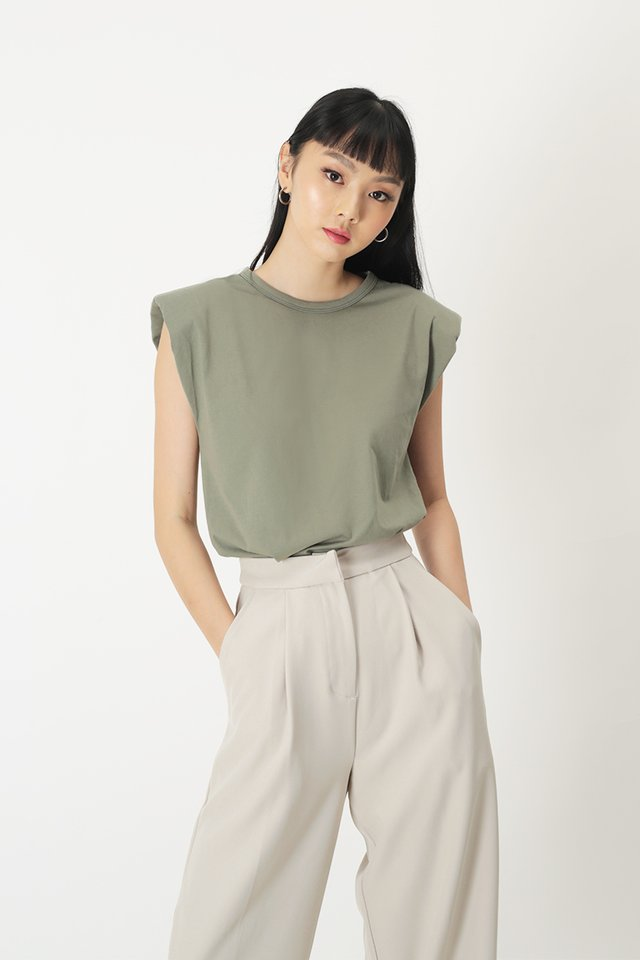 PASCAL MUSCLE TEE IN OLIVE