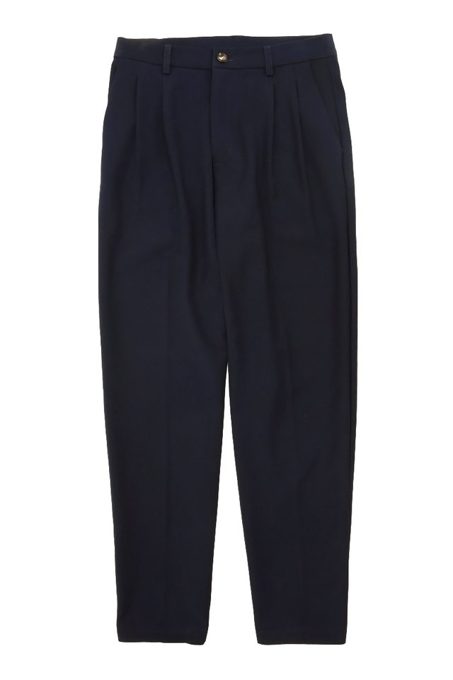 PORTER DOUBLE PLEATED TROUSERS IN NAVY