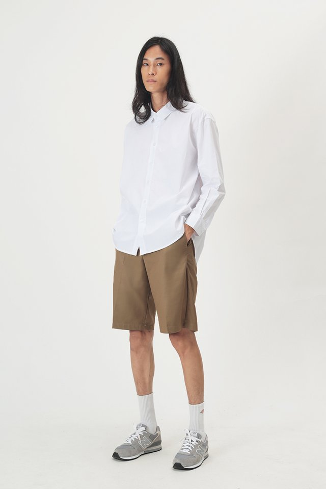 REMY OVERSIZED SHIRT IN WHITE