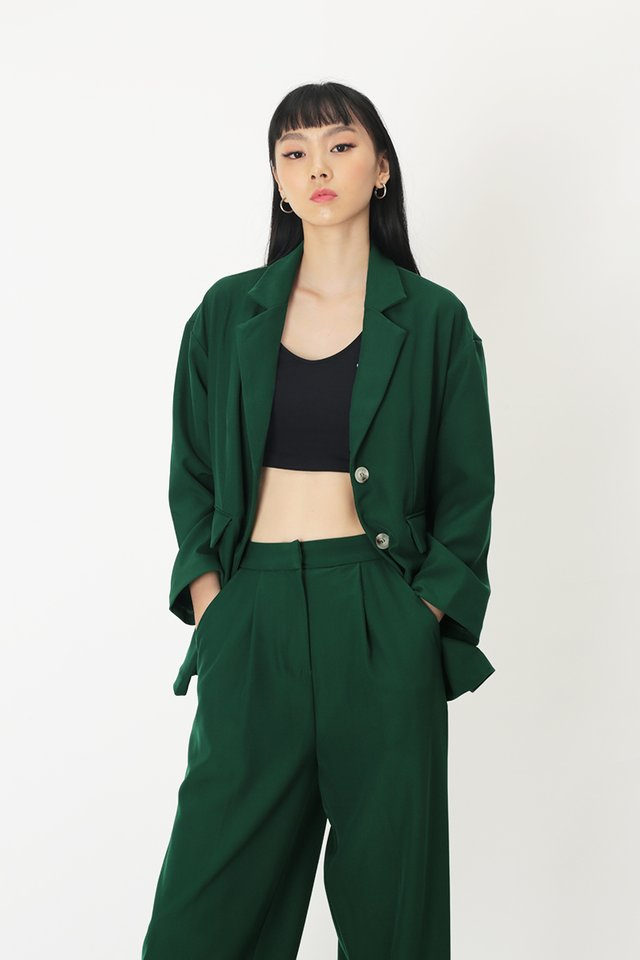 TILDA OVERSIZED BLAZER IN FOREST