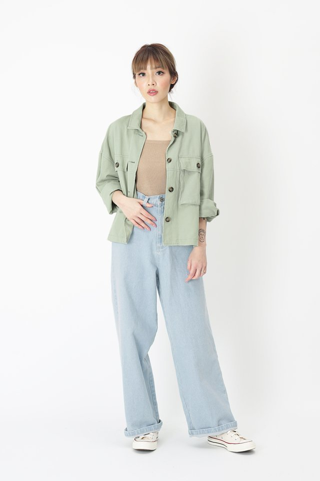 EDNA OVERSIZED JACKET IN SAGE