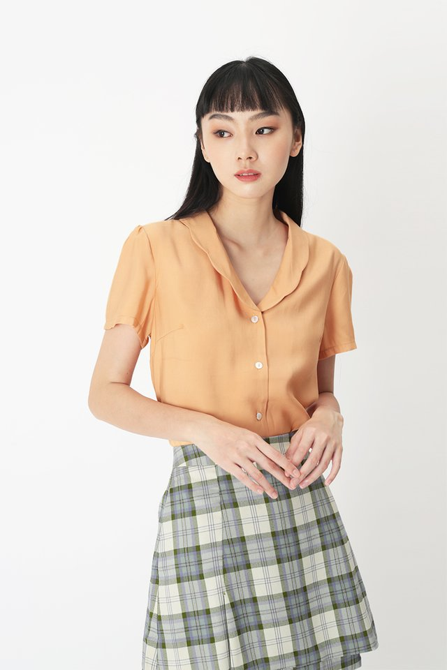 EUGENIA SCALLOP BLOUSE IN APRICOT