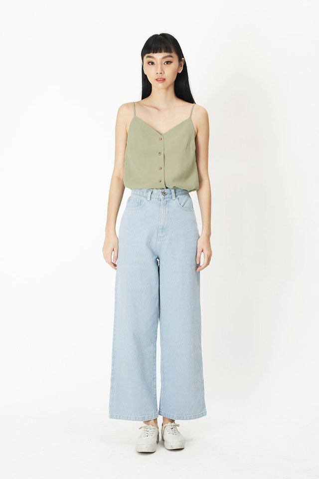 FAUSTINE STRAIGHT LEG DENIM JEANS IN LIGHT WASH