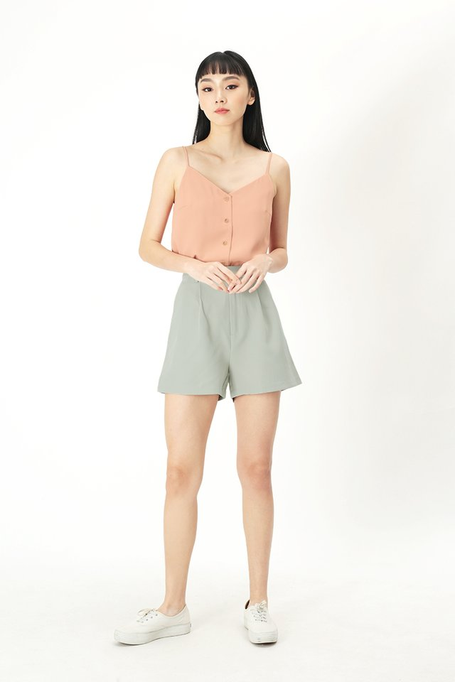 KEEPING SCORE BOY SHORTS IN SAGE