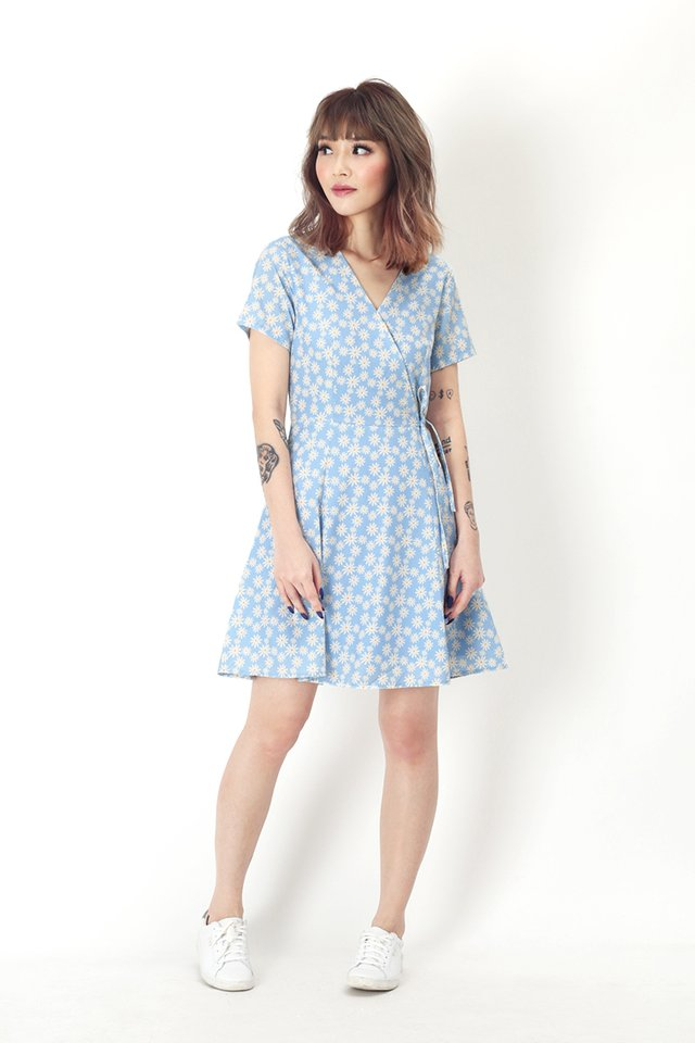 KIT DAISY SWING DRESS IN SKY