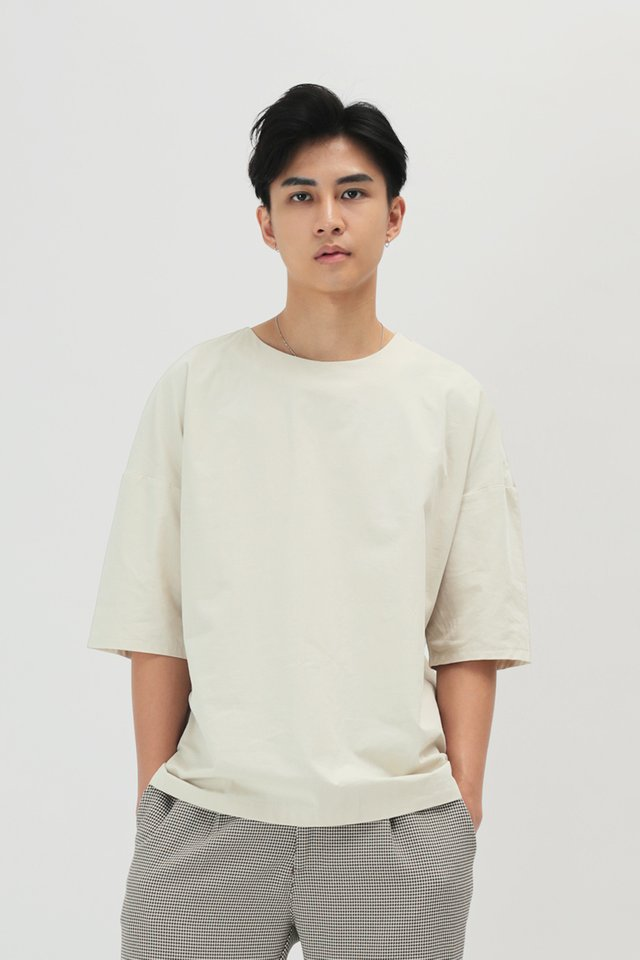 KODA ROUND NECK TOP IN BONE