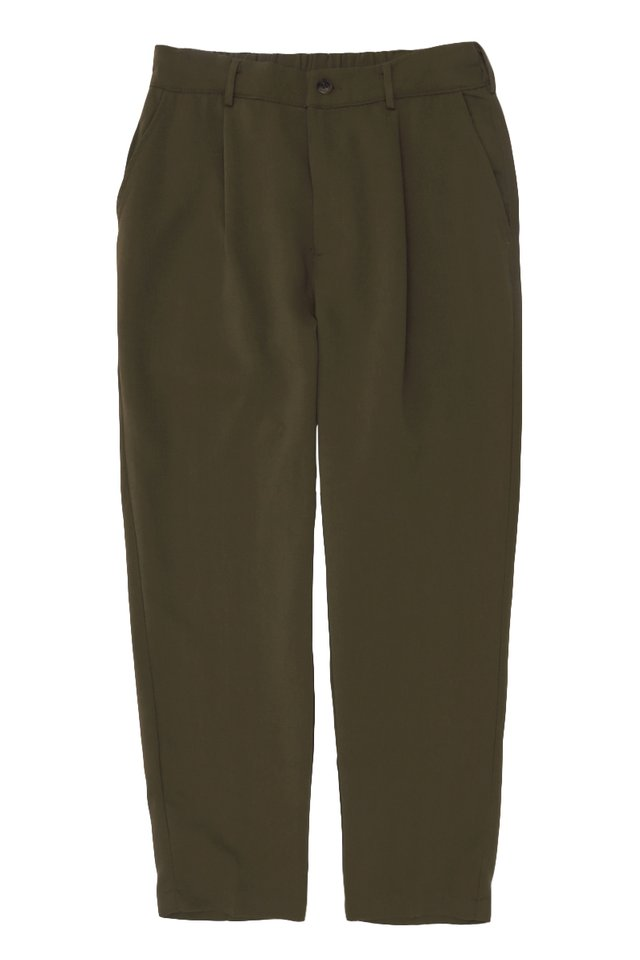 LOWRY RELAXED-FIT TROUSERS IN OLIVE