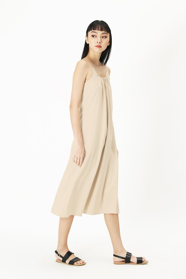 YVES SPAG MIDI DRESS IN CREAM