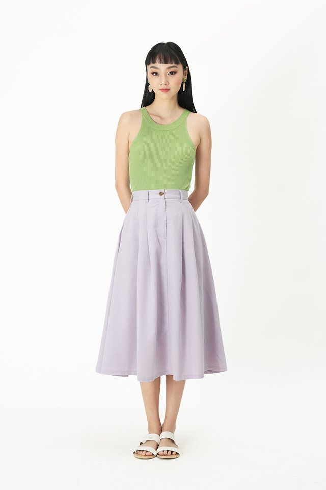 ADINA PLEATED SKIRT IN LILAC