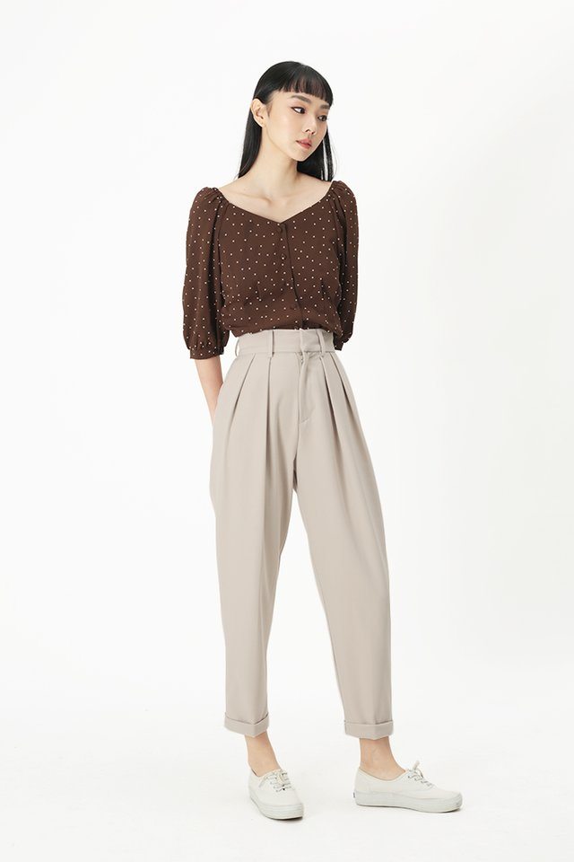 BRIAR PEG LEG PANTS IN OAT