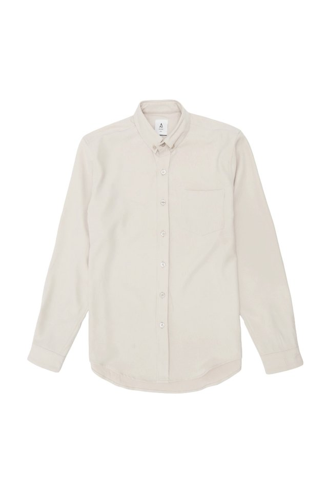 FELIX LONG SLEEVE SHIRT IN BONE