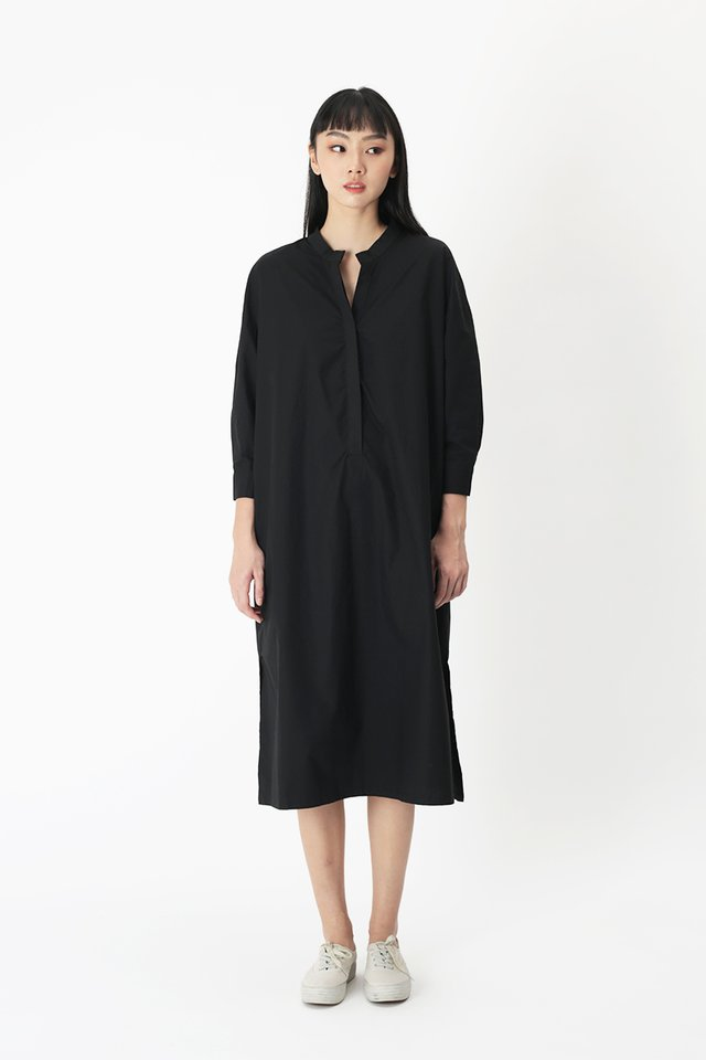 GRETA MIDI DRESS IN BLACK