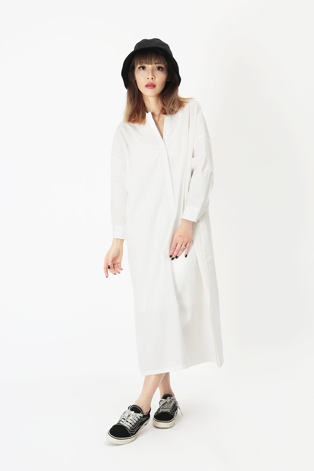 GRETA MIDI DRESS IN WHITE