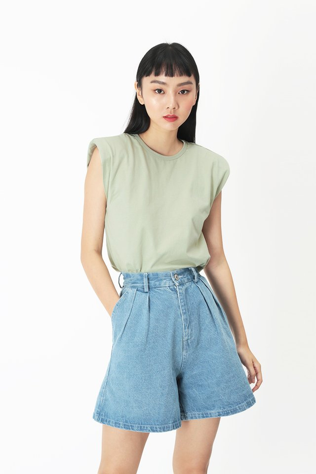 PASCAL MUSCLE TEE IN SAGE