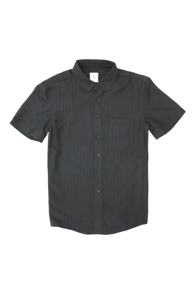 RUDY ROUND COLLAR SHIRT IN MIDNIGHT NAVY