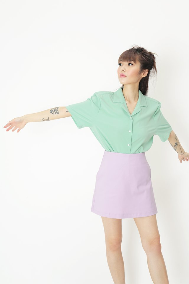 TONI CAMP COLLAR SHIRT IN SEA BREEZE
