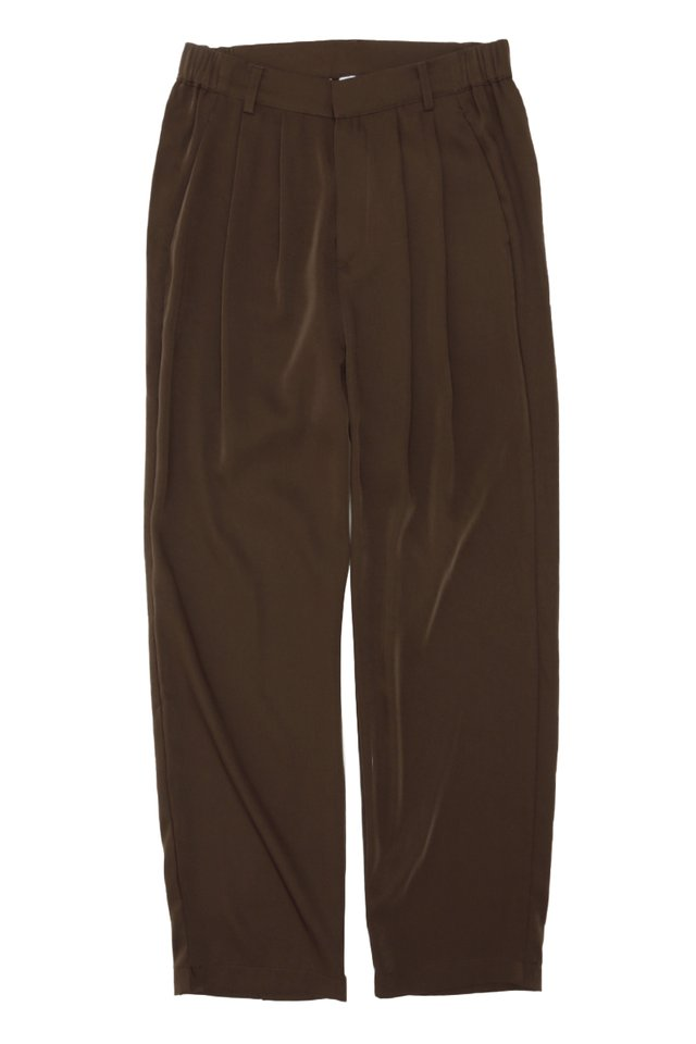 BEAU DRAPE TROUSERS IN CHOCOLATE