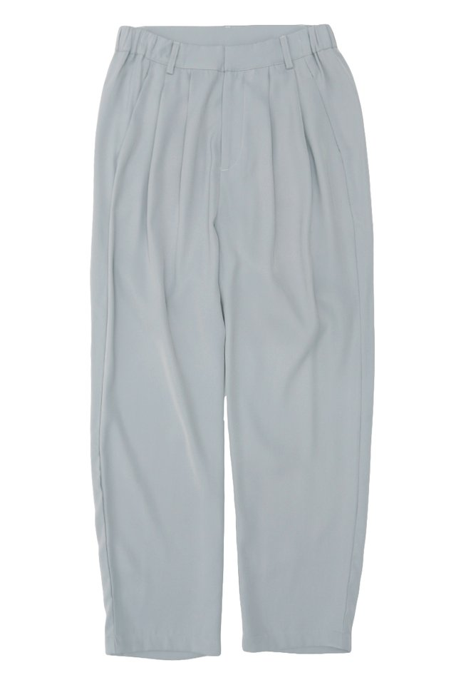 BEAU DRAPE TROUSERS IN FROST GREY