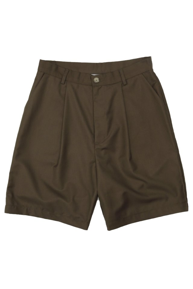 DECLAN DRAPE SHORTS IN BROWN
