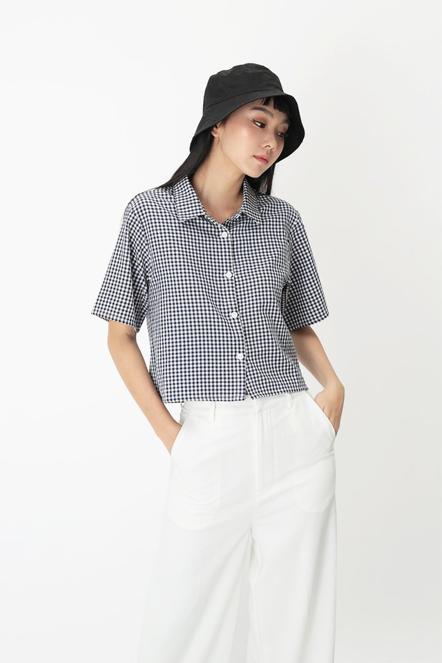 MAURIE GINGHAM SHIRT IN NAVY
