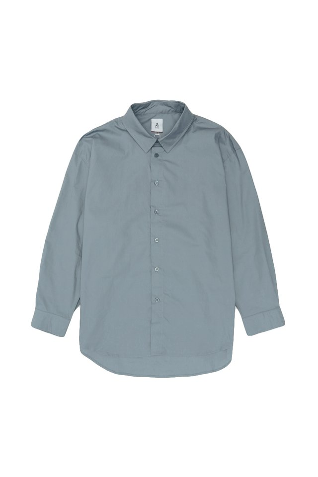 REMY OVERSIZED SHIRT IN DUSK BLUE