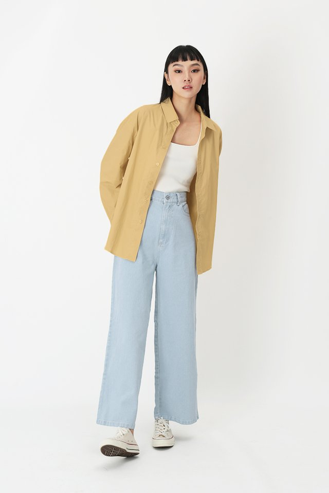 REMY OVERSIZED SHIRT IN MELLOW YELLOW