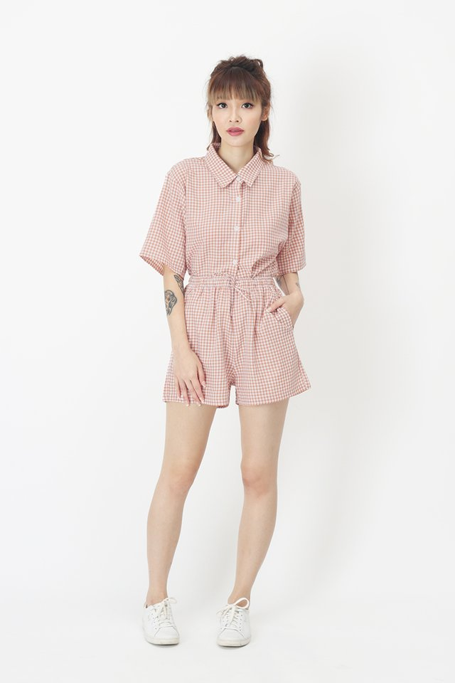 SUSIE GINGHAM SHORTS IN BLUSH