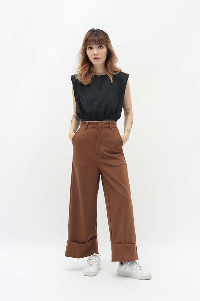 ALASTAIR CUFF CULOTTES IN CHOCOLATE