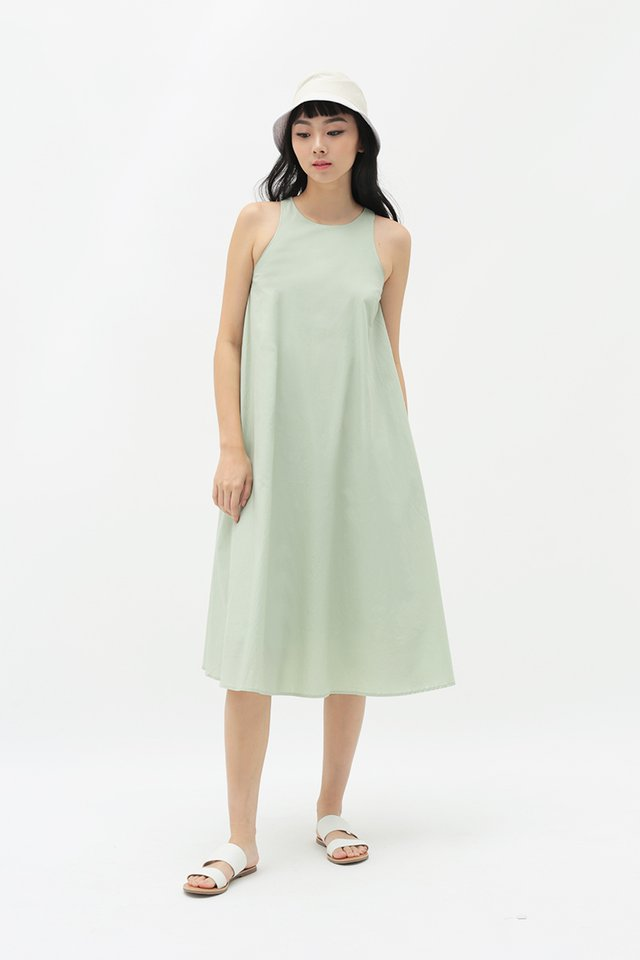 ANNALISE MIDI DRESS IN LAUREL