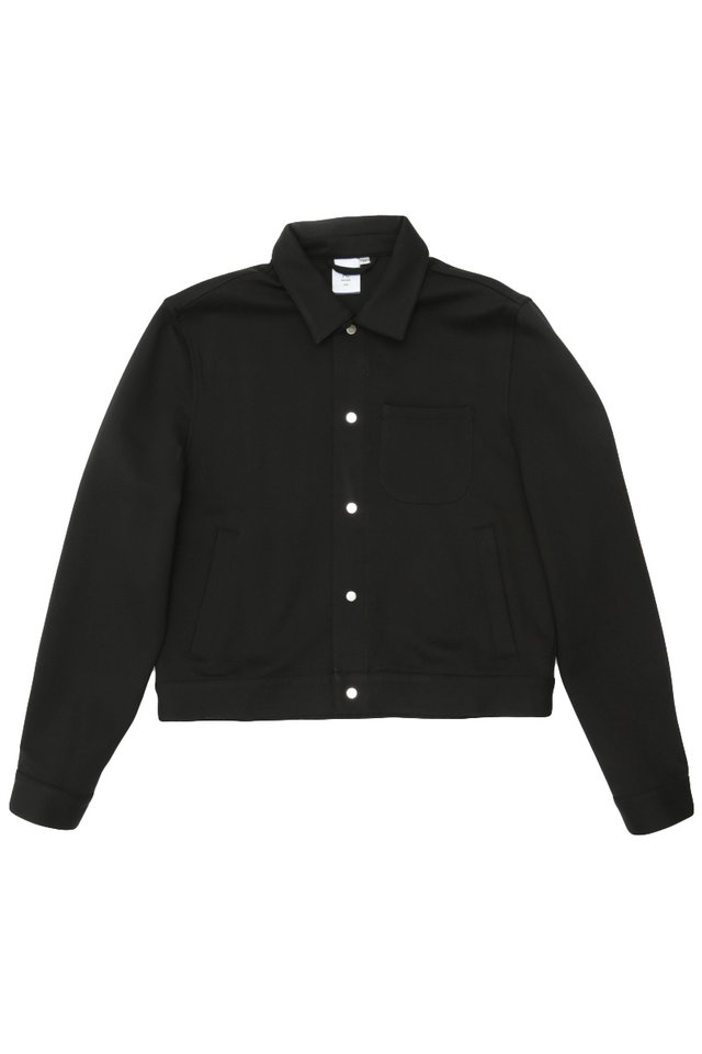 BAILEY CROPPED SHIRT JACKET IN BLACK