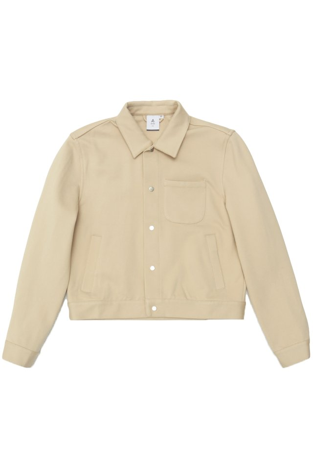 BAILEY CROPPED SHIRT JACKET IN CREAM