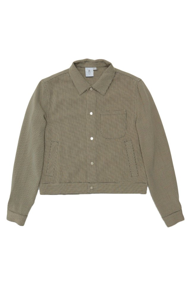 BAILEY HOUNDSTOOTH SHIRT JACKET IN SAND