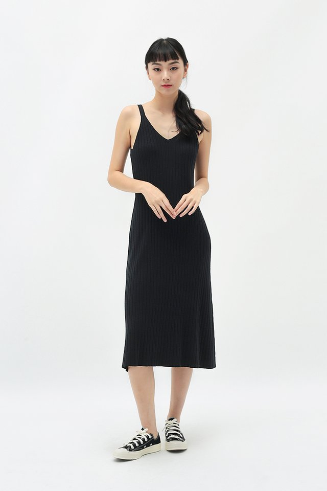 BLAIR KNIT DRESS IN BLACK