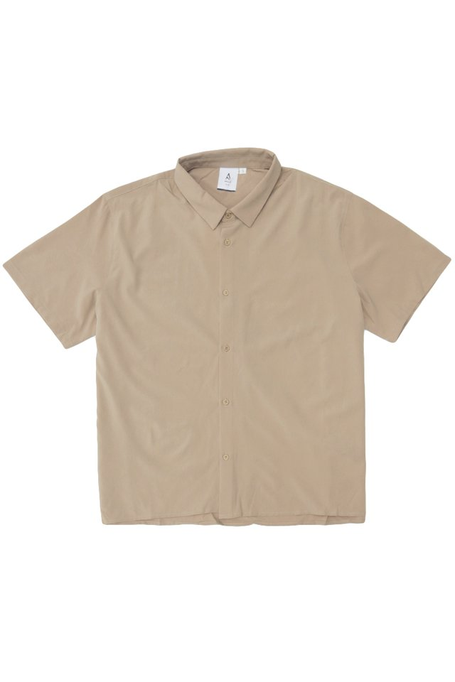 FINN SHORT SLEEVE SHIRT IN KHAKI
