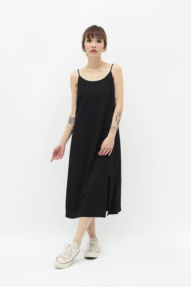 GABRIELLA SPAG DRESS IN BLACK