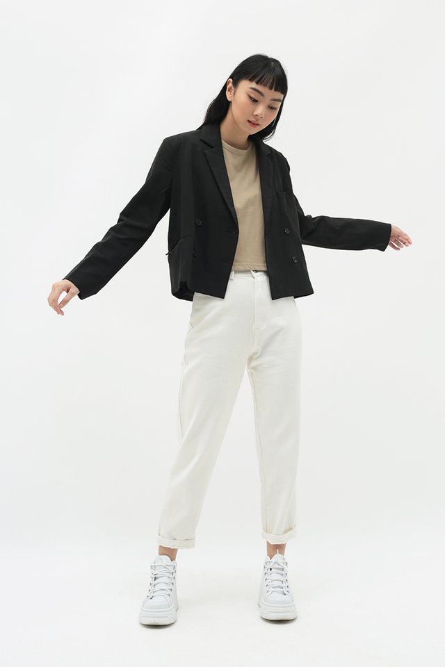 MARTIN CROPPED BLAZER IN BLACK
