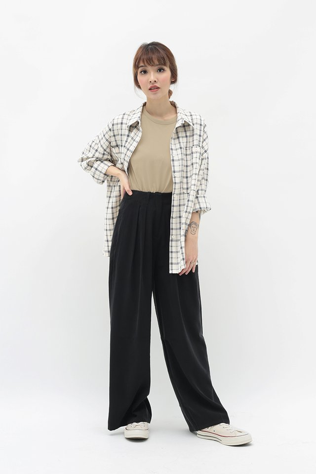 ALY PALAZZO PANTS IN BLACK