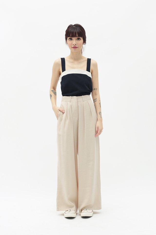 ALY PALAZZO PANTS IN CREAM