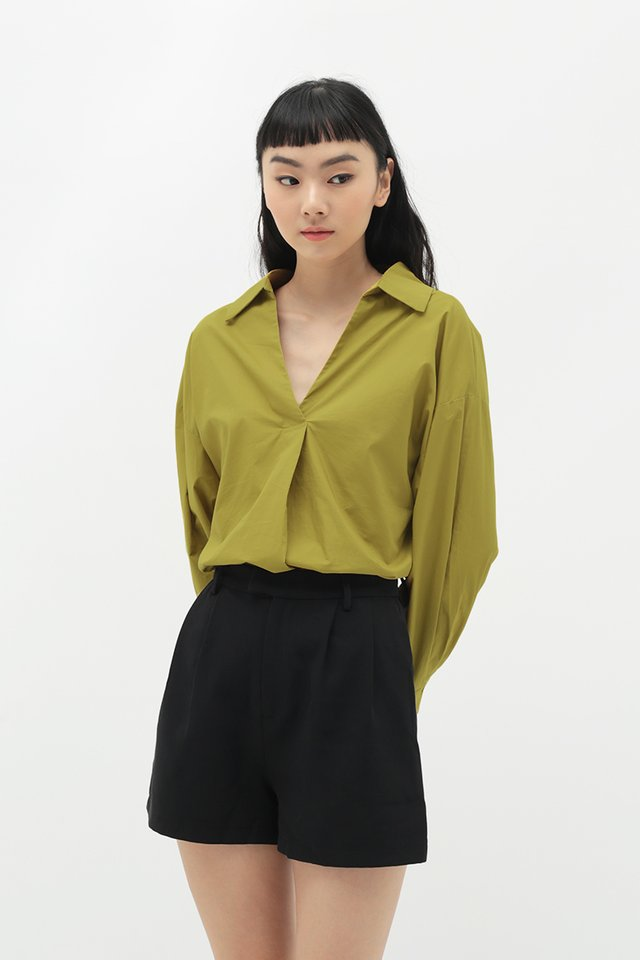 VICTORIA OVERSIZED SHIRT IN OCHRE